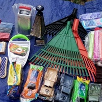 rakes, washing brush,brooms,graters clothes pins strainers and more