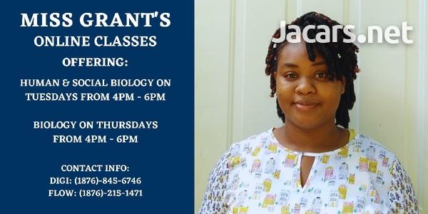 Biology & HSB Classes online