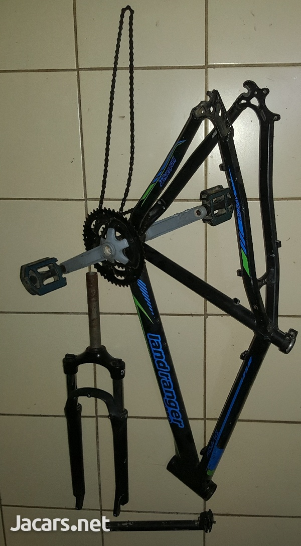 Bicycle frame, fork and seat pole.-5