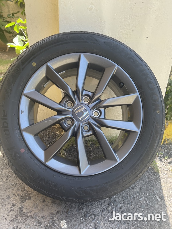 Stock Honda Rims and Tires 16in - only used for 3 days. 215/55R16 93H-2