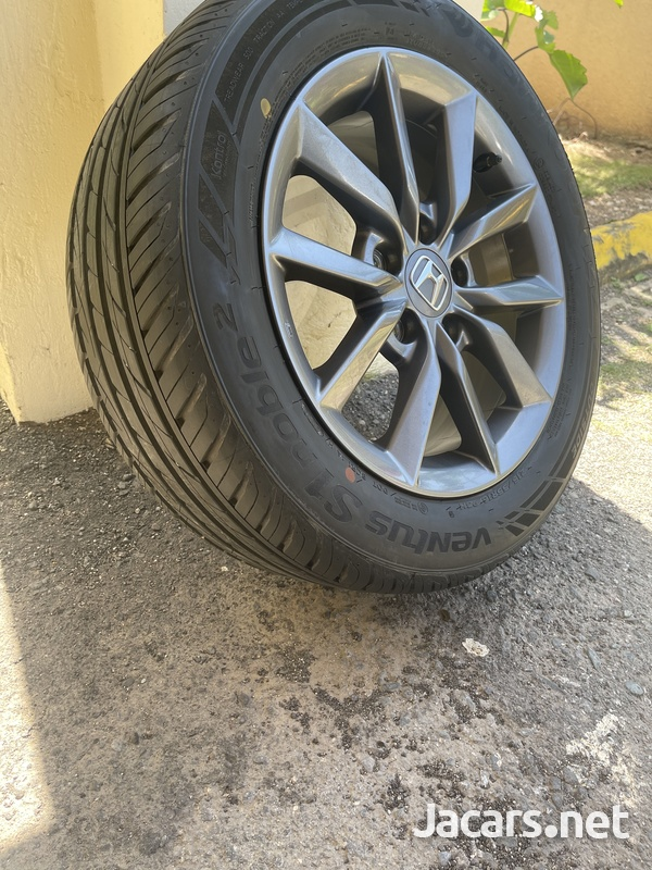 Stock Honda Rims and Tires 16in - only used for 3 days. 215/55R16 93H-1
