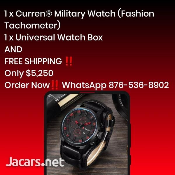 Curren Military Watch - Fashion Tachometer-1