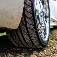 Staggered 20 inch Giovanni rim and tyres
