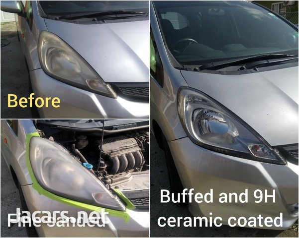 9H ceramic coating head lamp restoration-1