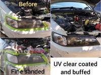 UV clear coating head lamp restoration