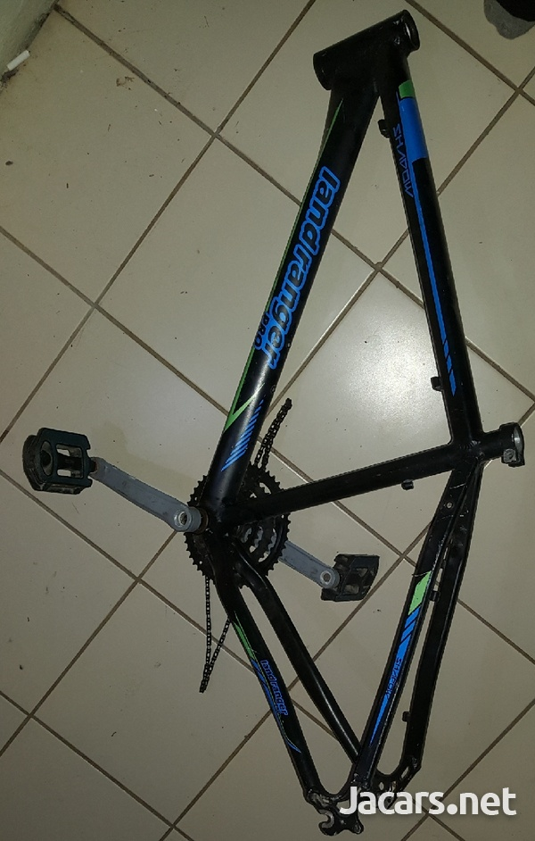 Bicycle frame, fork and seat pole.-1