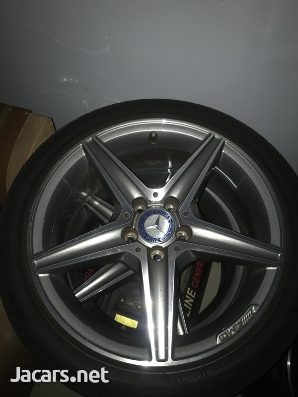 Mercedes Benz Stock AMG 18 Rims Tires-1