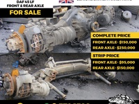 TRUCK AXLES FRONT AND BACK FOR ALL TRUCKS - ISUZU / DAF / MITSUBISHI