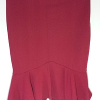 Women's Stretchy Mini Skirt Red XL New