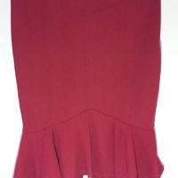 Women's Stretchy Mini Skirt Red XL New