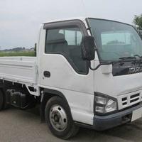 Used Isuzu Elf Manual 4,8L Flatbed Truck
