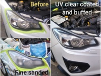 UV coating vehicle head lamp restoration service