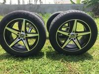 Four TW Rims with 4 Kumho Tires