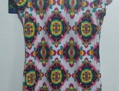 WORN COLOURFUL DRESS TOP QUALITY