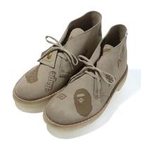 A Bathing Ape x Clarks Desert Boots Gray
