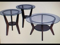 Fan tell 3 in 1 - 2 end tables and 1 cocktail