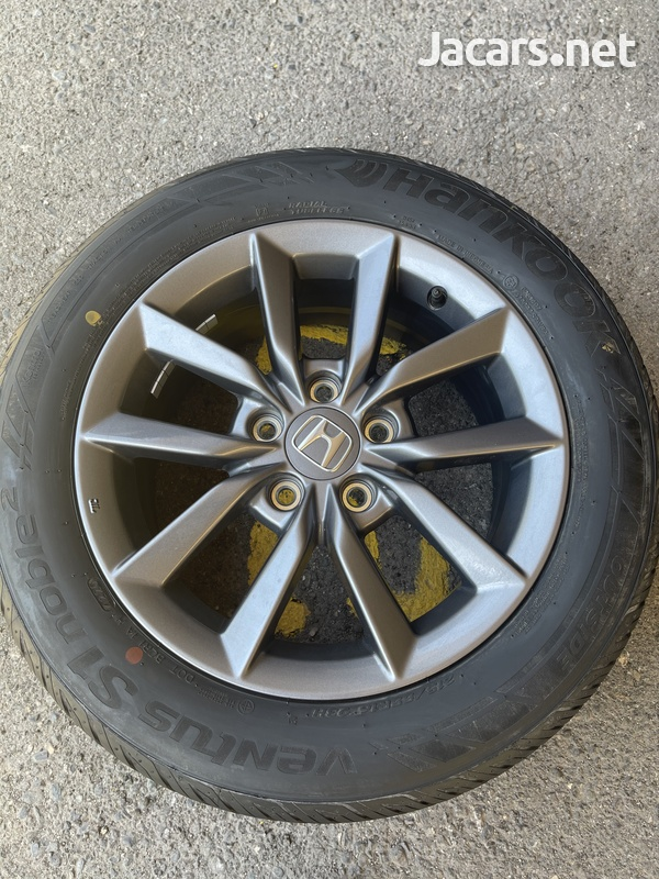 Stock Honda Rims and Tires 16in - only used for 3 days. 215/55R16 93H-3