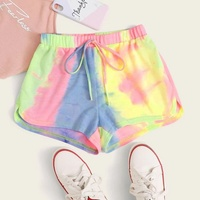 Tie and Dye Knot Waist Shorts