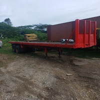 2 40 feet flatbed trailers