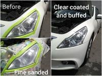 UV coat protection head lamp restoration service