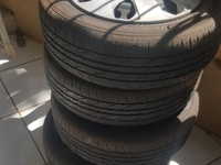 195 .60 . 15 Dunlope Tyres, Steel Rims
