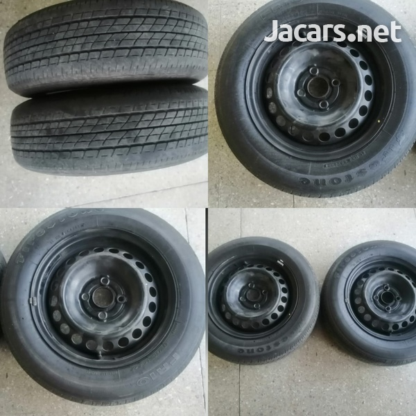 Two 175/70r14 Rims and Tires-4