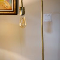Gold Arched Floor Lamp