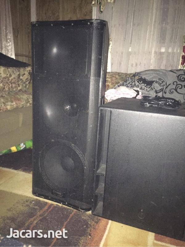 QSC Sleft powered speaker box-1