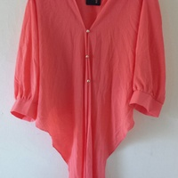 Women's Blouse Peach Color Size XL