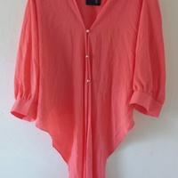 Women's Blouse Peach Color Size XL