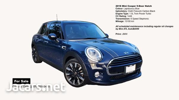 Mini Cooper 1,5L 2018
