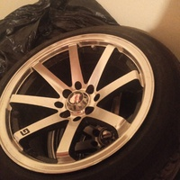 concave rims, along with tyres