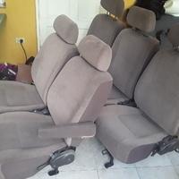 ONE SET OF 5 ORIGINAL SEATS WITH HEADREST.876 3621268